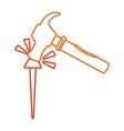 iron nail vector image