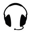 Isolated headphones vector image