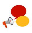 loudspeaker megaphone advertising announcement vector image