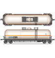 Railroad Gasoline and Oil Tank Set vector image