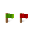 red and green flags vector image