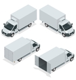 Set of icons truck for transportation cargo Van vector image