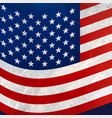 wavy american flag background vector image