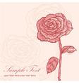 Valentine flower invitation floral vintage card vector image