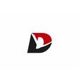Letter d logo vector image