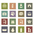 goods for pets icon set vector image