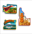 Idaho Oregon Washington retro vector image vector image