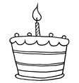 Birthday cake cartoon vector image vector image