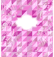 Abstract pink geometrical background vector image vector image
