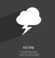 storm icon symbol Flat modern web design with long vector image