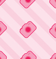 Seamless Pink Toy Camera Pattern vector image