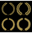 gold laurel wreath vector image