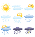 set of the weather icons vector image vector image