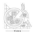 Traditional Italian kitchen mono line logo vector image