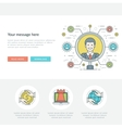 Flat line Search Employee Concept vector image