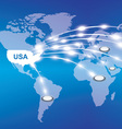 usa export around the world vector image