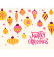 Festive Christmas greeting card with 50s retro vector image