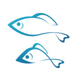 Golden Fish and Grayling vector image