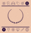 laurel wreath - symbol vector image