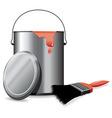 paint pot vector image