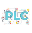 plc professional learning community vector image