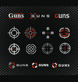 shooting range logo template and icon vector image