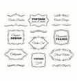 vintage frame set ornate frames and scroll vector image