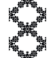 Seamless floral black pattern vector image