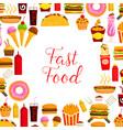 fast food restaurant lunch poster for menu design vector image vector image