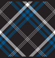 black check seamless fabric texture vector image