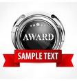 Metallic award with ribbon vector image vector image