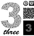 three vector image vector image