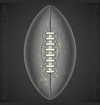 american football ball on a black background vector image