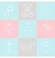 Baby supplies vector image