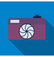 Professional photocamera symbol vector image