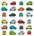 Set of car side and front view vector image