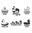 Set of logo templates with rubber duck vector image