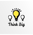 Think big light bulb sketch vector image