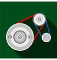 mechanic belt icon flat style vector image