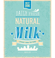 Natural Milk vector image vector image