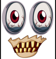Eyes of a zombie vector image