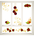 set of christmas banners 2308 01 vector image
