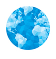 Abstract geometric globe - vector image