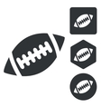Rugby icon set monochrome vector image