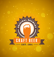 Retro Vintage Beer Logotype Design Element vector image