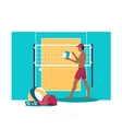 Beach Volleyball Sport Concept Icon Flat Design vector image vector image