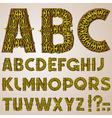 golden swirly alphabet vector image vector image