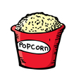 pop corn vector image