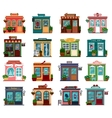 Shops or markets in exterior view vector image