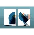Geometric mosaic design a4 size business vector image